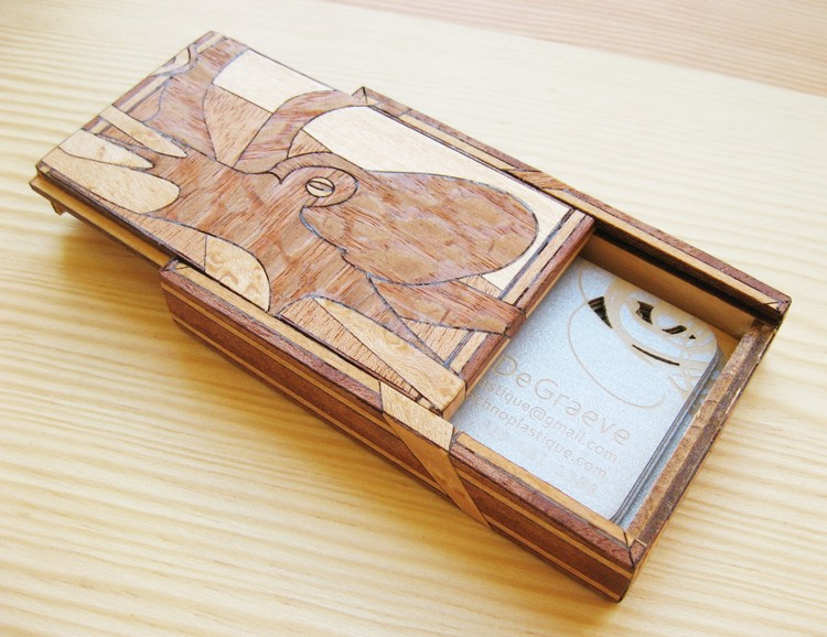 Business Card Case With Covert Compartment